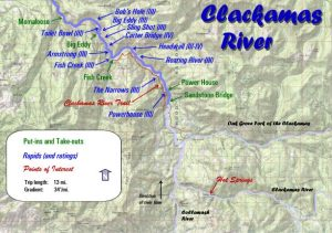 Clackamas River Map