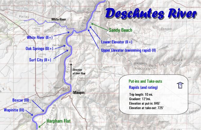 Deschutes River Rafting Maps | Oregon River Experience on chiwawa river map, cascade lakes map, nevada creek float map, salmon river map, cherokee river map, snake river map, grande ronde river map, maries river map, stevens river map, park river map, rogue river map, wahkiakum river map, columbia river map, lostine river map, yellowstone river map, south yamhill river map, salem river map, st. johns river map, oregon map, middle fork john day river map,