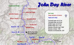 John Day River Rafting Maps Oregon River Experiences