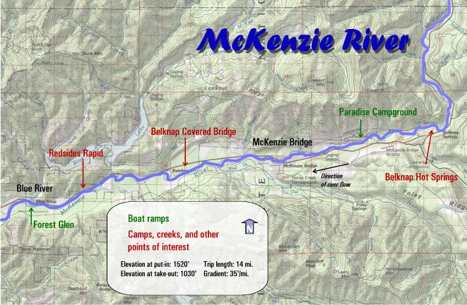 Mckenzie River Rafting Maps Oregon River Experience