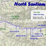 North Santiam River Map