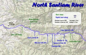 North Santiam River Map