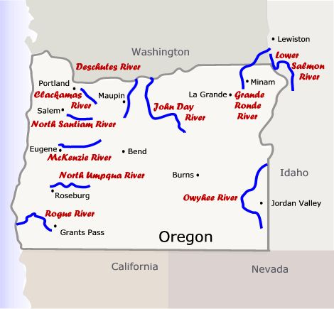 Grand Ronde Oregon Map.About Our Rivers Oregon River Experience