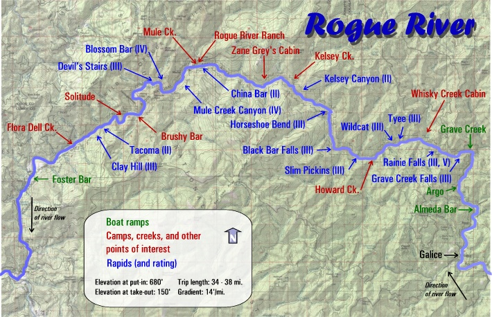 Rogue River Rafting Maps | Oregon River Experience