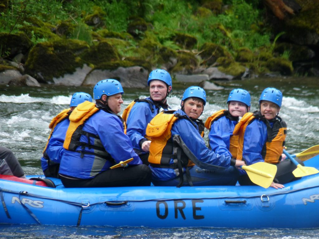 Family Group Looks back On N Umpqua River