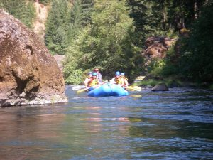 Raft on the mckenzie river